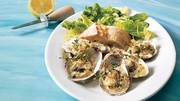 Cream and thyme oysters with parmesan gratin