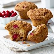 Cranberry Apple Bran Muffins