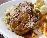 Grilled Spicy-Honey Pork Chops