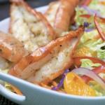 Lemongrass Jumbo Shrimp and Mandarin Slaw