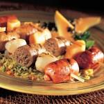 Three-sausage Brochettes BBQ