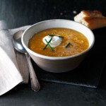 Maple corn and butternut squash soup