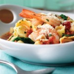 Shrimp,Tortellini & Spinach