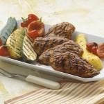 Orange-BBQ Chicken with Grilled Vegetables