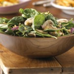 Spinach Salad with Raspberry-Maple Dressing