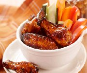 Glazed Apricot Chipotle Wings