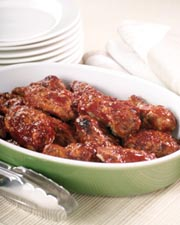Orange and Pecan Hot Wings
