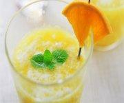 Boisson lactée à l'orange et à l'érable
