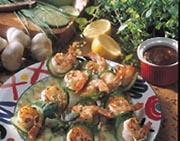 Grilled Shrimp and Cucumber Kebabs