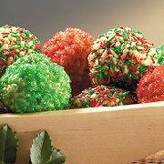 Colourful No-Bake Christmas Balls