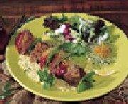 Barbecued Lamb Brochettes,citrus fruit marinade