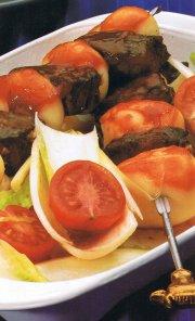 Brochettes de boeuf et de pommes de terre