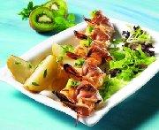 Shrimp-prosciutto brochettes