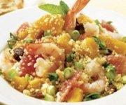 Couscous aux crevettes et aux agrumes