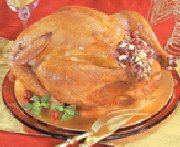 Turkey with Apple, Cranberry, Wild Rice Stuffing