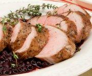 Pork Tenderloin with Wild Blueberry Sauce