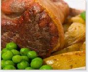 Garlic and Fine Herbs Stuffed Boneless Leg of Lamb