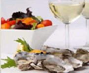 Oysters on the Half Shell with Muscat Jelly