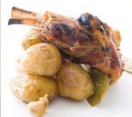 Braised and Grilled Lamb Shanks