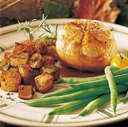 Tournedos de poulet au sirop d'érable et aux graines de pavot