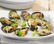 Mussels in a Boréale Noire Sauce au Gratin