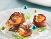 Scallops with Bayonne Ham and Maple Syrup