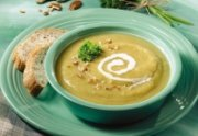 Ginger Squash Soup with Pecans