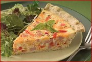 Sour Cream Ham and Pepper Quiche