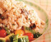 Microwave Mushroom & Cheese Risotto