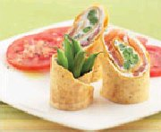 Smoked Salmon Roll with Green Beans