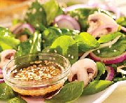 Spinach Salad with Hot Sesame Dressing