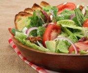 BLT Salad with Creamy Basil Dressing