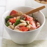 White Kidney Bean and Tomato Salad