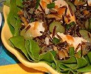 Chicken Rice Salad with Orange Dressing