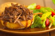Slow Cooker Pulled Beef Sandwiches