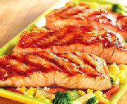 Grilled Salmon with Maple-Dill Glaze