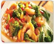 Spicy mandarin shrimp & vegetable stir fry