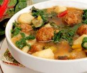 Sausage, Potato and Swiss Chard Soup