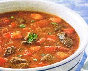 soup peppers, tomatoes and beef (slow cooker)