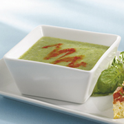 Broccoli with Roasted Red Pepper Soup