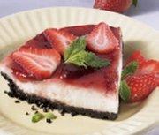 Yogurt, Ricotta and Strawberry Pie