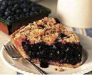 Almond Crunch Blueberry Pie