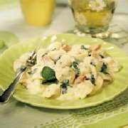 Tortellini Alfredo with Spinach & Ham