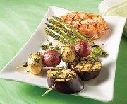 Barbecue vegetable trio