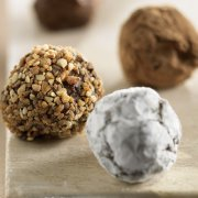 Black Chocolate and Coffee Truffles